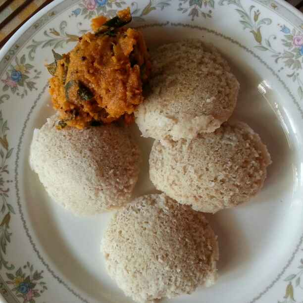 Photo of Barley Idli with Onion Chutney by Swasti Biswas at BetterButter