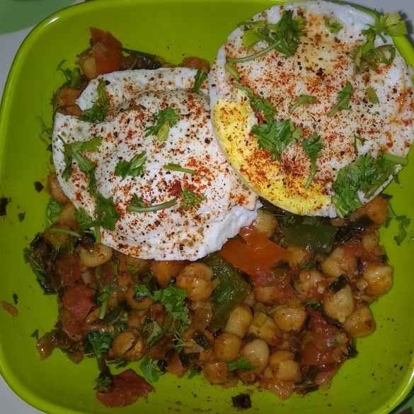 Photo of Pouched eggs with chickpeas by SwathiBindhu Peeta at BetterButter