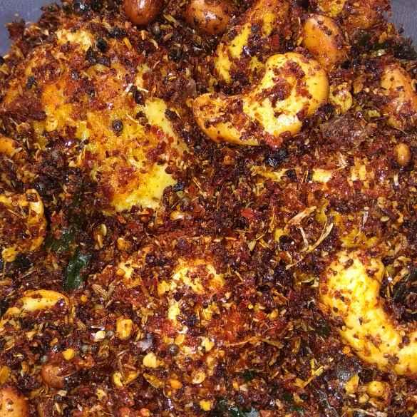 Photo of Kaaju ground nut egg fry by SwathiBindhu Peeta at BetterButter