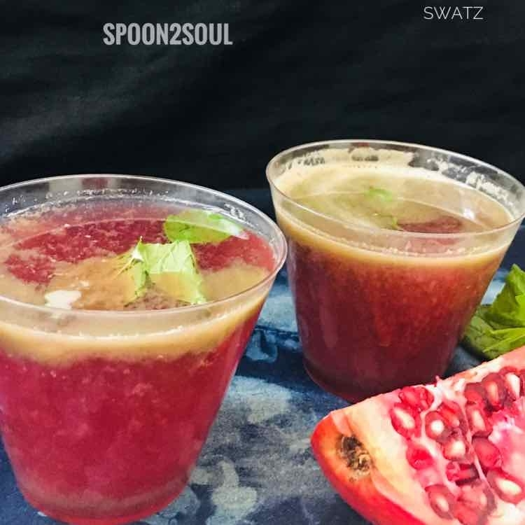 How to make Pomegranate Mint Spritzer