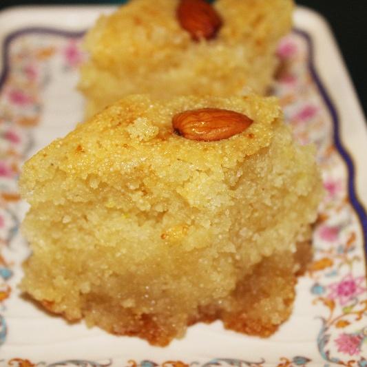 How to make Basbousa Arabic Dessert