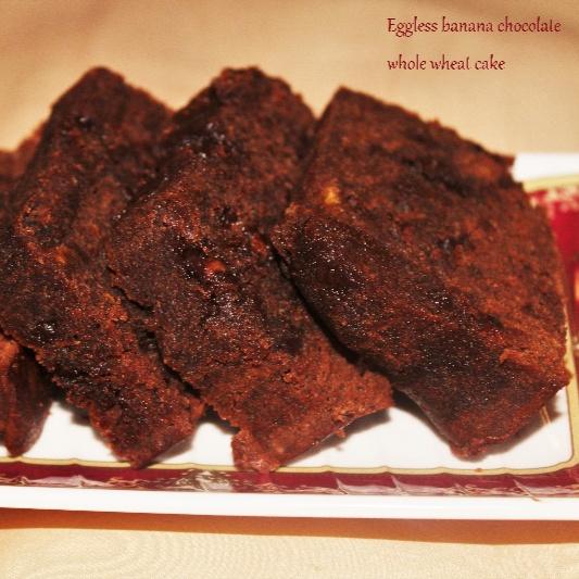 How to make Whole wheat banana chocolate cake
