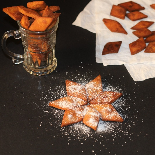 How to make SHAKARPARA WITH LEFTOVER SUGAR SYRUP / WHEAT FLOUR SWEET DIAMOND CUTS