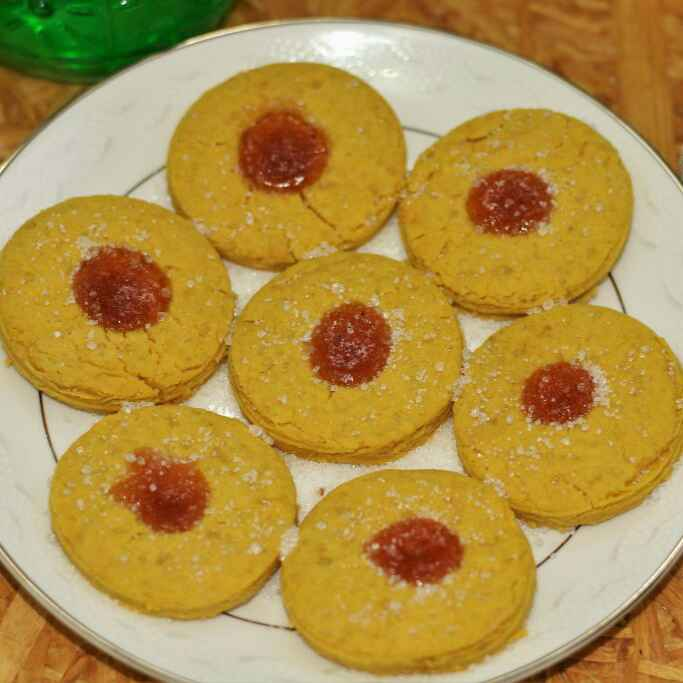 Photo of Thumbprint Jam Cookies With Custard Powder by Swathy Nandhini at BetterButter