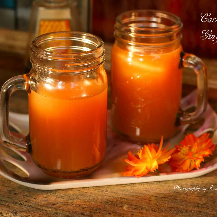 How to make CARROT APPLE GINGER JUICE