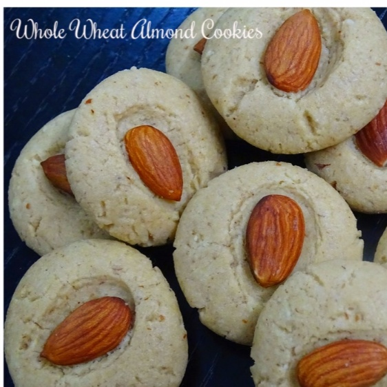 How to make Eggless Whole Wheat Almond Cookies