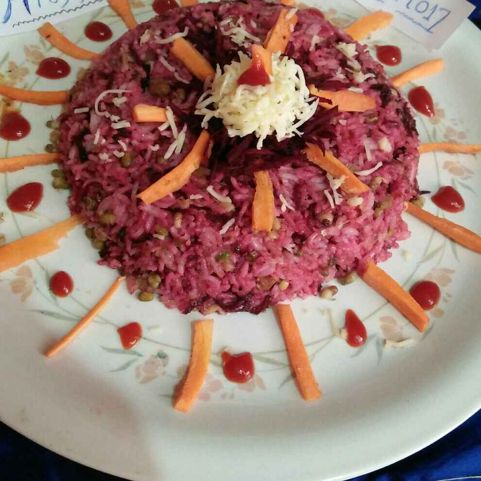 Photo of Beet Sprouts Pulao by Swati Bapat at BetterButter