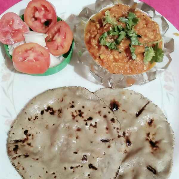 Photo of Baingn bharta n bajra roti by Swati Bapat at BetterButter