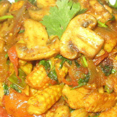 How to make Babycorn Mushroom Masala