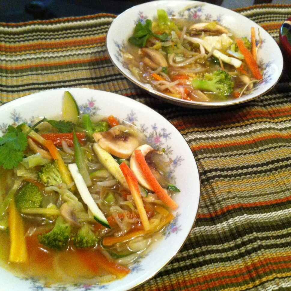 How to make Lemon Grass Broth Soup (Tom Yum)