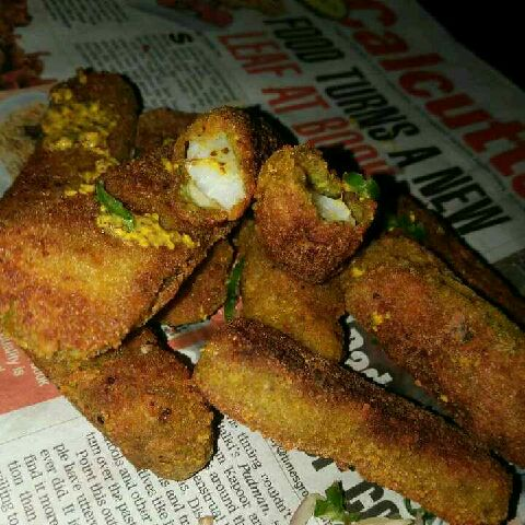 How to make spicy mustard coriander finger fry