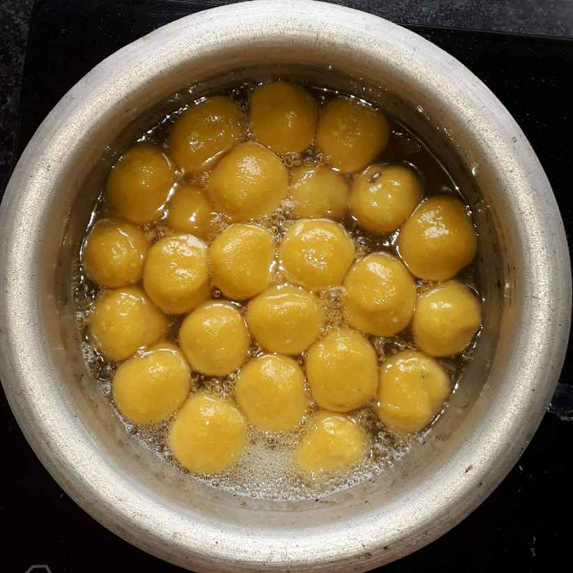 Photo of mango rasogolla by Swati Sengupta at BetterButter