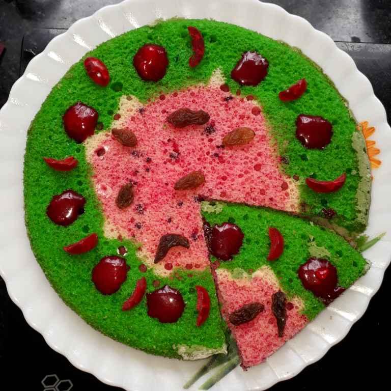 Photo of watermelon cake by Swati Sengupta at BetterButter