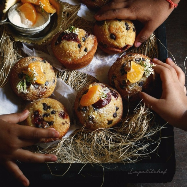 How to make Orange Muffins with Chocolate and Poppy seeds