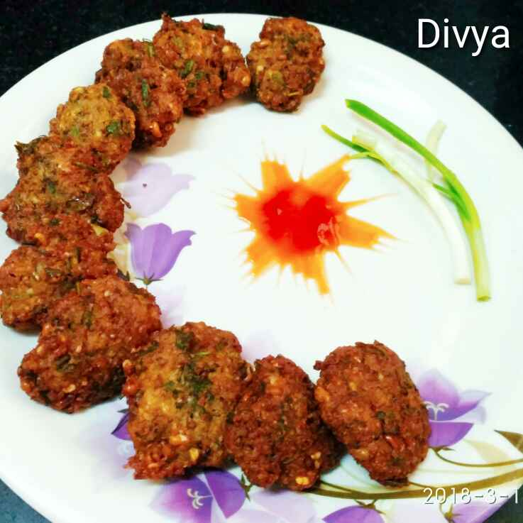 How to make Sprouts palak vada