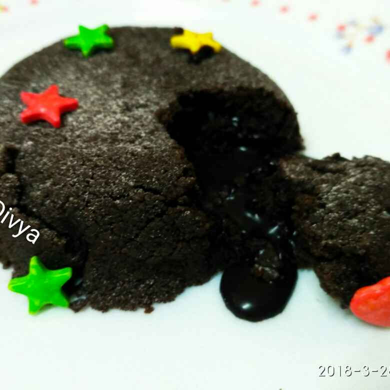 How to make American oreo biscuit choco lava cake
