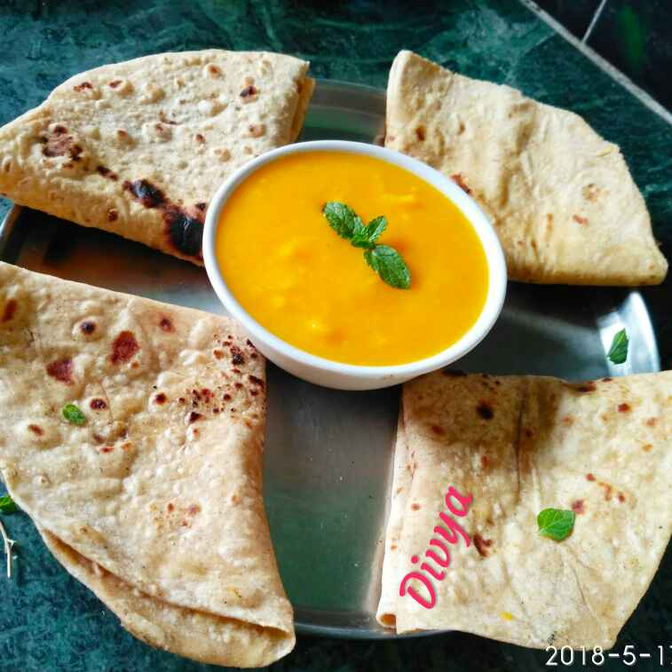 How to make Aam juice and roti
