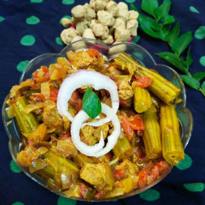 Photo of Soya tomato drumsticks curry by Divya Konduri at BetterButter