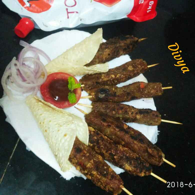 How to make Papad pepper's crunchy butter kabab
