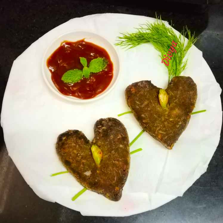 How to make Ginger ragi heart cutlets