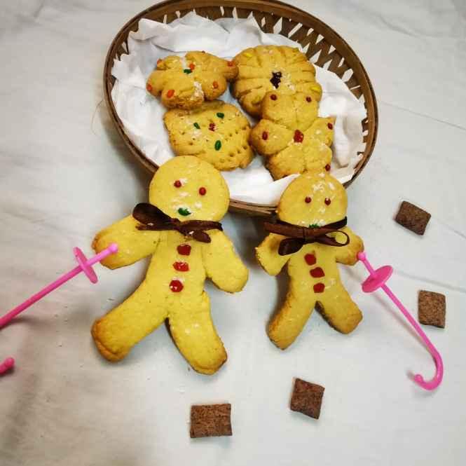 Photo of SHREK coconut zinger bread man cookies by Divya Konduri at BetterButter
