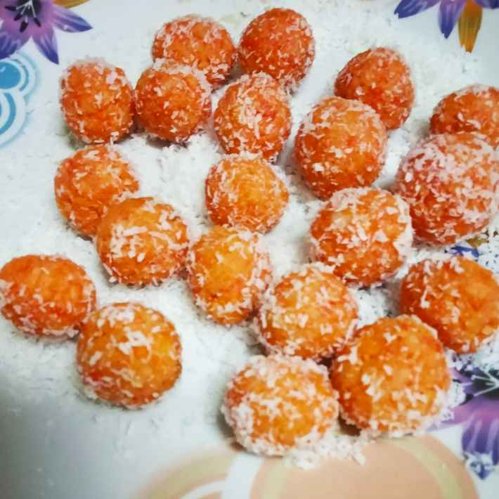 Photo of Saffron coconut laddu by Divya Konduri at BetterButter