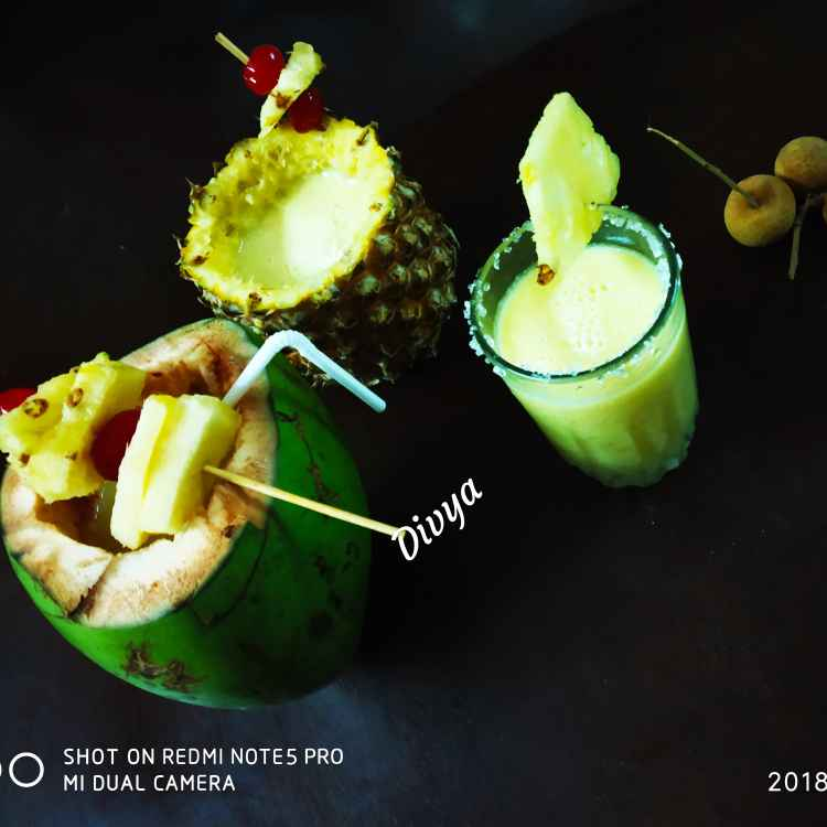 Photo of Virgin pina codala cocktail/ non alcoholic by Divya Konduri at BetterButter