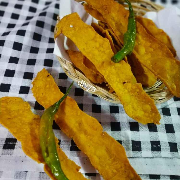 How to make Fried mirchi fafda