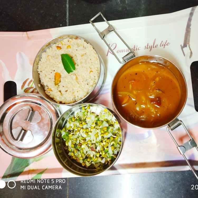 Photo of Wheat rice ,sprouts salad,tomato rasam by Divya Konduri at BetterButter