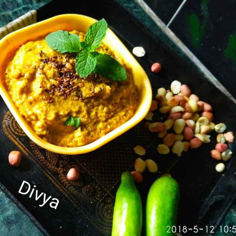 Photo of Tindora ground nut chutneu by Divya Konduri at BetterButter