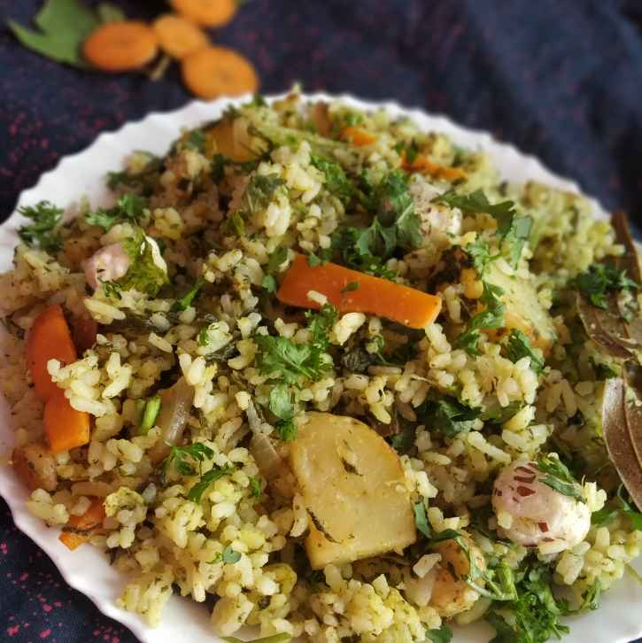 Photo of Lotus seeds and Red sorrel leaves pulav by Divya Konduri at BetterButter