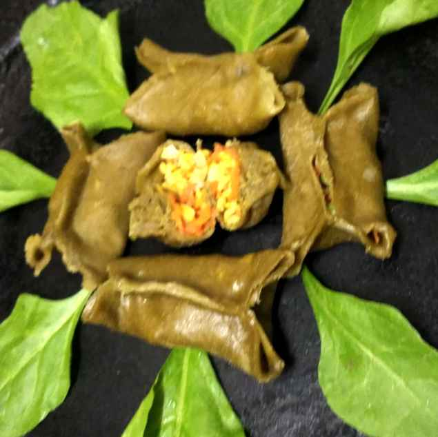 Photo of Spinach pouch momos by Divya Konduri at BetterButter