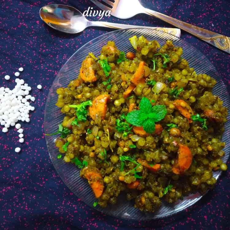 Photo of Mint sabudana poha by Divya Konduri at BetterButter