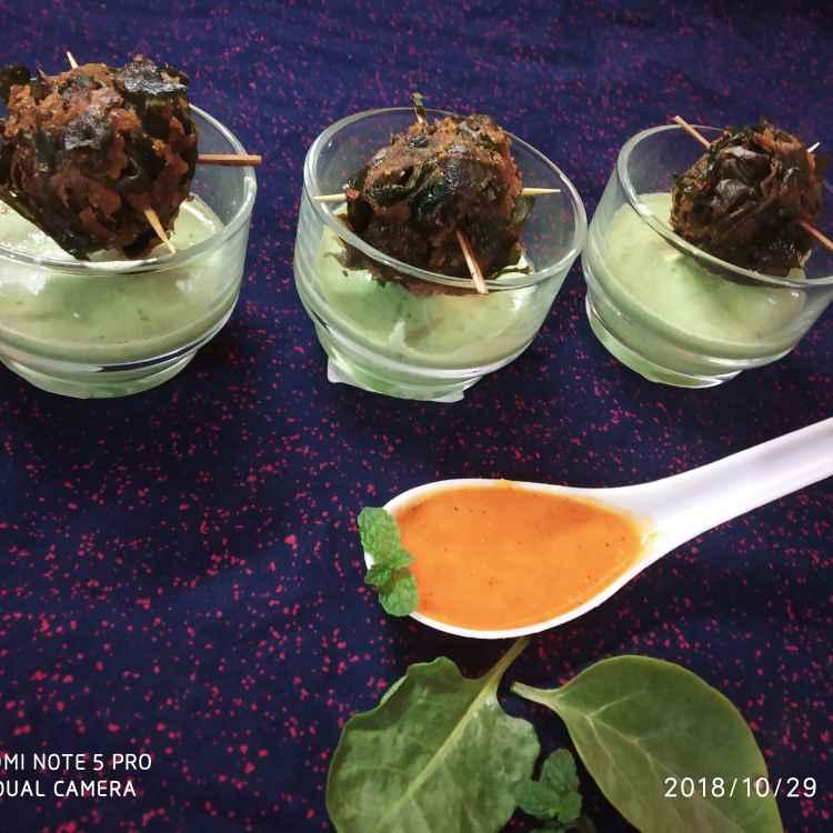 Photo of Palak paneer bombs with mint chutney by Divya Konduri at BetterButter