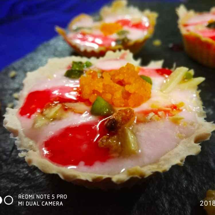 Photo of Dri fruits srikand in tart by Divya Konduri at BetterButter