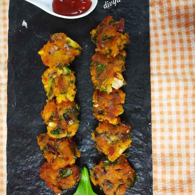 Photo of Poha palakcutlets by Divya Konduri at BetterButter