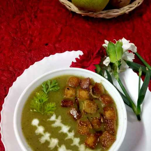 Photo of Turnip zinger vegetable dal soup along with croutons by Divya Konduri at BetterButter