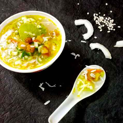 Photo of Barley coconut vegetable soup by Divya Konduri at BetterButter