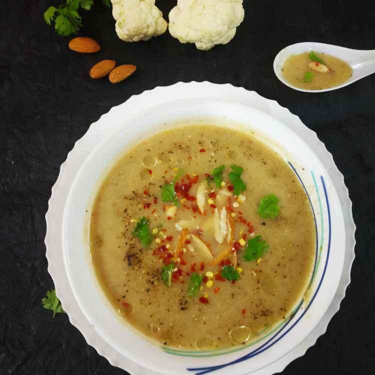 Photo of Cauliflower almond soup by Divya Konduri at BetterButter