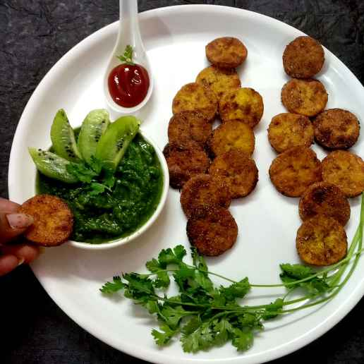 Photo of Kivvi coriander dip with banana fritter by Divya Konduri at BetterButter