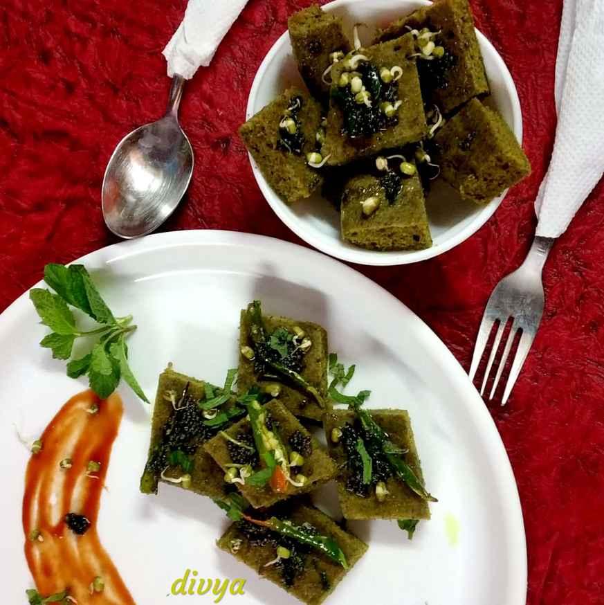Photo of Sprouts mint garam flore dhokla by Divya Konduri at BetterButter