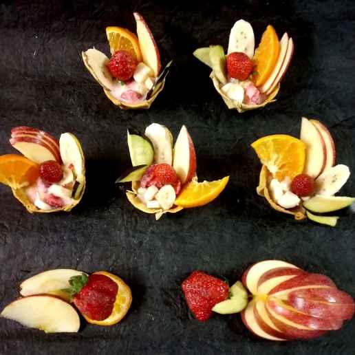 Photo of Strawberry fruit canapes by Divya Konduri at BetterButter