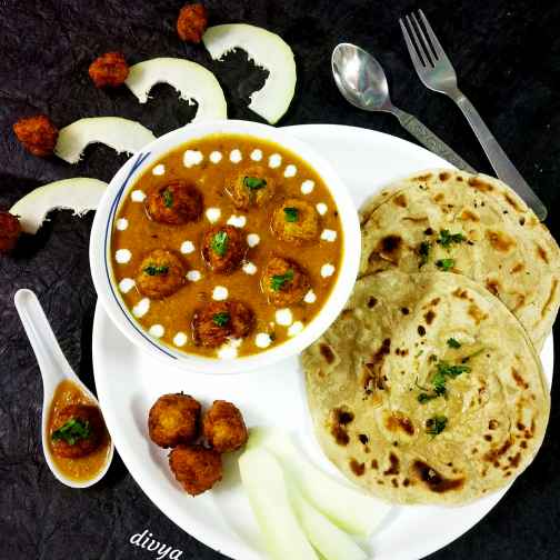 How to make Raw papaya koftha gravy curry