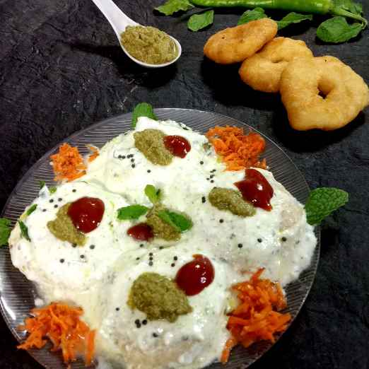 Photo of :relaxed:️Mint flavour dahi vada by Divya Konduri at BetterButter