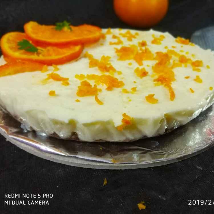 Photo of Chaco cookie orange cheese cake by Divya Konduri at BetterButter