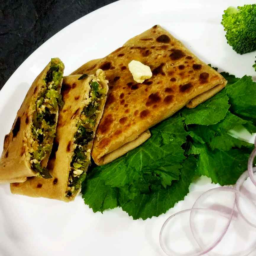 Photo of Paneer broccoli mughlai parata by Divya Konduri at BetterButter