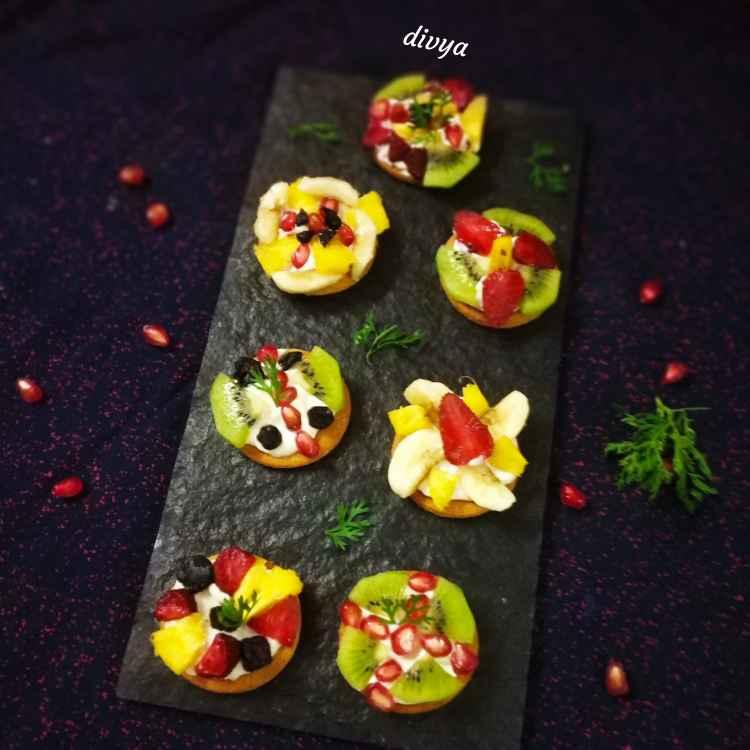 Photo of Mini fruit pizza by Divya Konduri at BetterButter