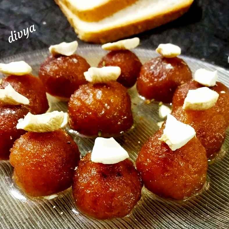 Photo of Instant bread gulab jamuns by Divya Konduri at BetterButter