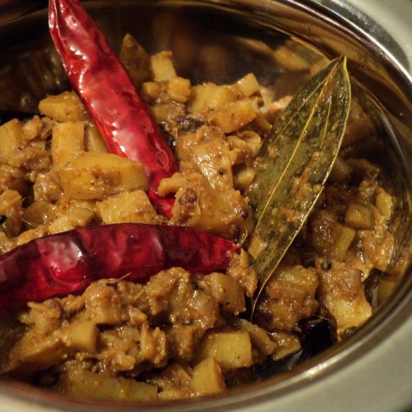 Photo of Kadali Manja Tarkari (Banana Stem Curry) by sweta biswal at BetterButter