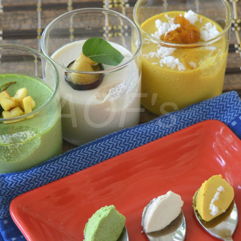 How to make Savoury Tricolor Panna Cotta